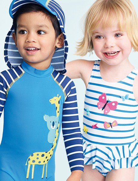 Family Holiday planning swimsuits for children
