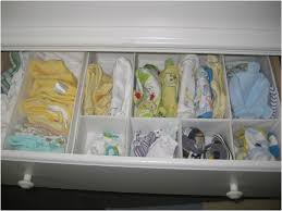 organising your baby storage unit by using drawer dividers