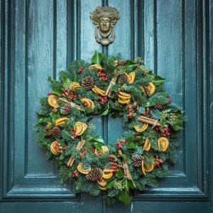 decorate your front door wreath