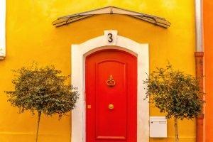 decorate your front door flower basket